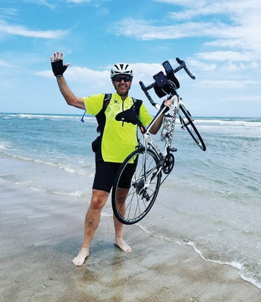 Rob finishes his ride